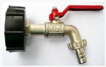 "IBC CAP and BRASS LEVER TAP 1/2"" to Garden Hose Connector"